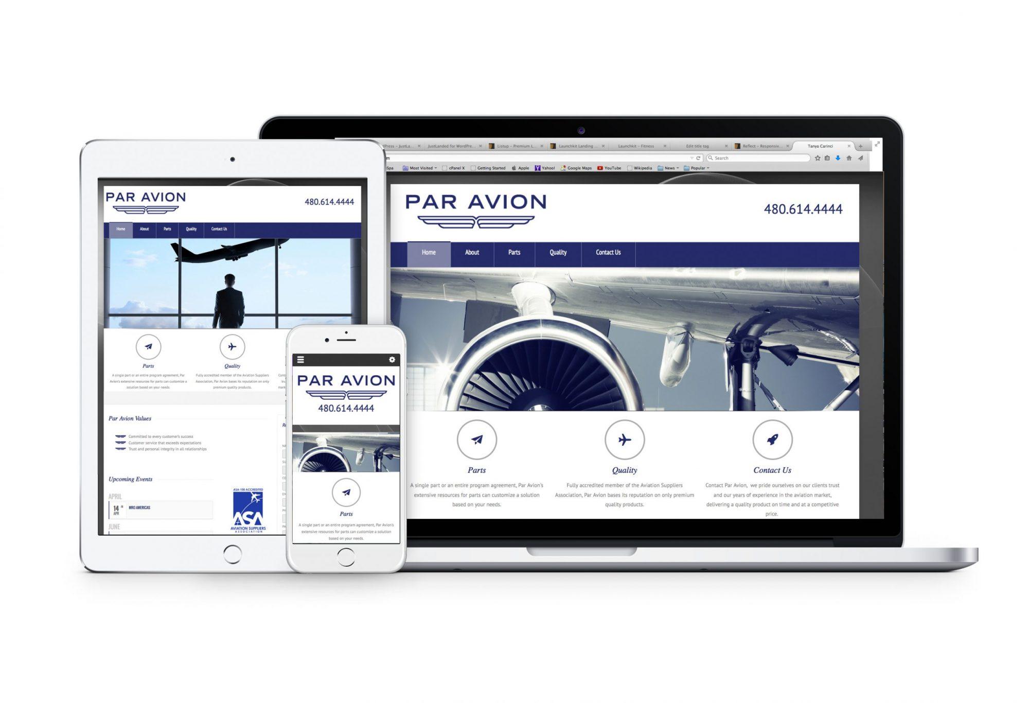 ParAvion Web Design