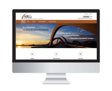 ARQ Wealth Advisors Web Design