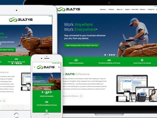 Zultys Website Design